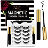 The Belle Cartel Magnetic Eyeliner and Lashes Kit, Magnetic Lashes and Eyeliner Set, Reusable Magnetic Lashes, No Glue (Cocktail - 5 Pairs)