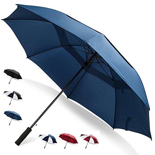 62 Inch Golf Umbrella (Blue, 2-Pack) Automatic Golf Umbrella Large Umbrellas for Weddings...