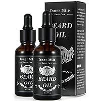 Mejor Elección 2 Paquetes Ricino Aceite de Barba para Hombres Cuidado de Barba, Ideal para El Crecimiento de La Barba, Suavizar, Hidratar, Fortalecer - Ingredientes Naturales Puros (Olor A Luz)