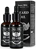 Original Castor Beard Oil 2 Pack For Men Beard Care, Ideal For Growth, Softening, Moisturizing, Strengthening and Maintenance - 100% Pure Natural Ingredients (Light Magic Fragrance)
