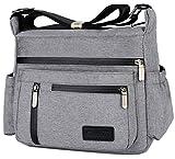 Scioltoo Crossbody Bags for Women Travel Purses And Handbags Crossbody Travel Purse with Lots of Pockets Nylon Lightweight Waterproof Messenger Grey A-Grey