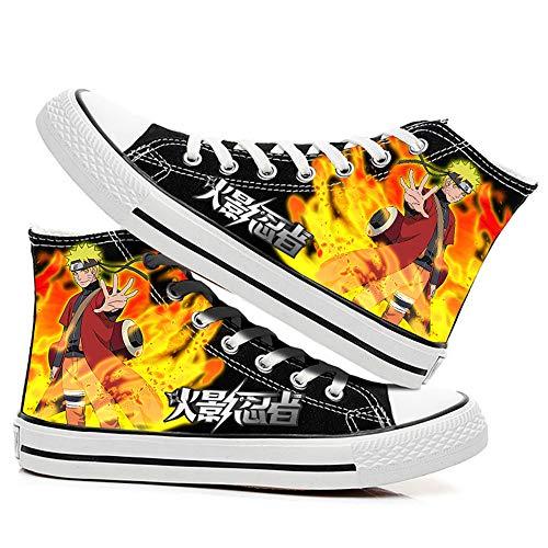 SevenLeo Zapatillas Hombre Zapatos Hombre Zapatillas Mujer Bambas Mujer Unisex Zapatillas Lona Zapatos Casuales Zapatos De Niño Niña Zapatos Naruto Anime Shoes 41