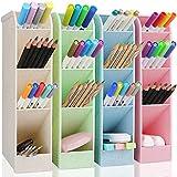 Organizador Lapices Escritorio, GUBOOM 4PCS Organizador de Bolígrafos para Oficina Portalápices Multifuncional para Oficinas, Profesores, Colegios, Rotuladores, Bolígrafos de Gel, Pinceles