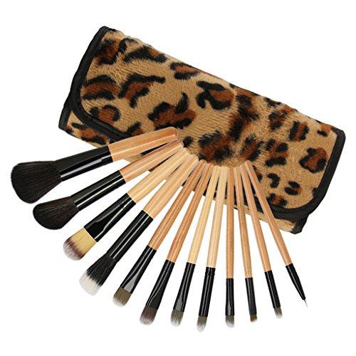 T TOOYFUL Maquillage 12pcs Brosses Set Powder Foundation Eyeshadow Eyeliner Lip Brush Tool