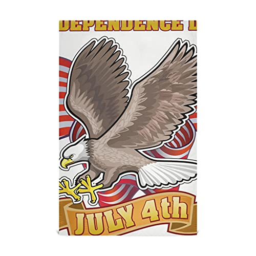 American Independent Day Symbol Eagle Kitchen Towel Sets With Dish Cloths 28x18 Inch Cotton-like Material Very Soft Highly Absorbent Lint-free Large Dish Towels Suitable For Kitchen Sink Dining Table