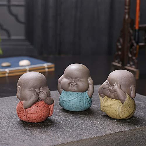 KUAQI Decorativos Figuras Salon candelabros de Jardin Exterior Miniatura,3 Piezas Mini estatuas...