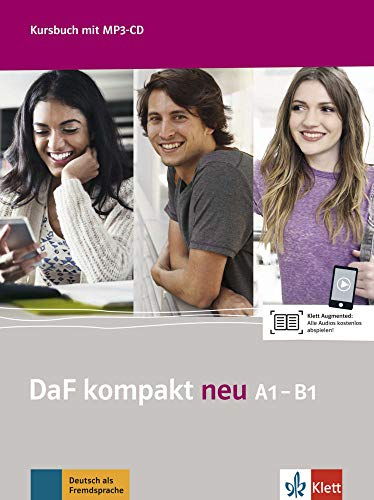 DaF kompakt neu A1-B1: Deutsch als Fremdsprache für Erwachsene. Kursbuch mit MP3-CD