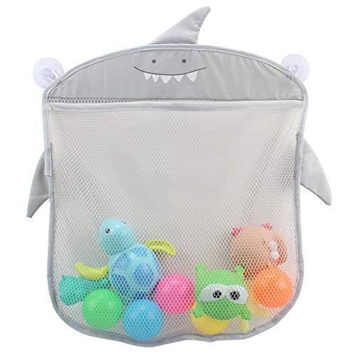 Aufbewahrungstasche für Baby-Badespielzeug, Badezimmer-Organizer zum Aufhängen, Netz-Netz mit 2 starken Saugnäpfen für Duschbürste, Shampoo, Kinder-Badewannen-Spielzeug