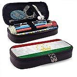 Bandera de Tayikistán Estuche de cuero de alta capacidad Estuche de lápices Estuche de papelería Organizador de caja Organizador Rotulador escolar Bolso de papelería para estudiantes