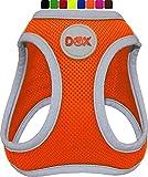 DDOXX Brustgeschirr Air Mesh, Step-In, reflektierend | viele Farben | für kleine, mittlere & mittelgroße Hunde | Hunde-Geschirr Hund Katze Welpe | Katzen-Geschirr Welpen-Geschirr | Orange, XS