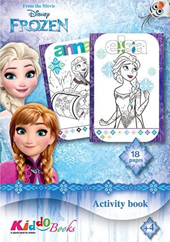 QuackDuck Disney - Blocco da colorare Frozen, la regina di ghiaccio, tutto il resto, Coloring Activity Book - Color by Number - Dipingere con i numeri (9012)
