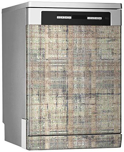 Megadecor decoratieve vinylstickers voor vaatwasser, afmetingen standaard: 67 cm x 76 cm, achtergrond in elegante stijl