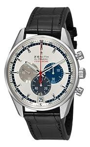Zenith Men's 03.2041.4052/69.c496 El Primero Striking 10th Chronograph Silver Chronograph Dial Watch image
