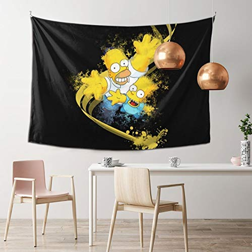 Simpsons Tapestry Bedroom Home Decor Boys Girls Wall Hanging Room Dorm 3D Painting 40 X 60 Inches