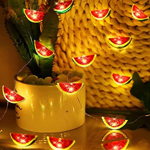 Guirnalda de luces decorativas con forma de sandía, 20 m, USB, para fiestas, dormitorios, Acción de Gracias, Navidad (atermelon 3 m/20 LED, USB)