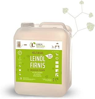 LINEA NATURA - Leinöl-Firnis | Holzschutz Leinölfirnis | Holzsiegel | reines hochwertiges natürliches Öl 3 L