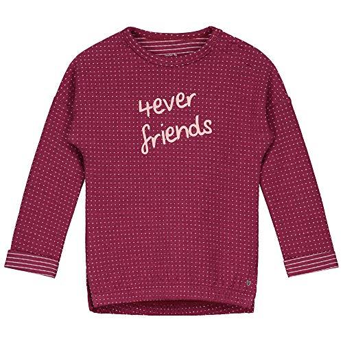 Prénatal baby meisjes shirt met lange mouwen '4ever Friends' donkerrood