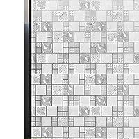 FUFU 窓用フィルム いいえグルーフロストウィンドウフィルムない、3D格子パターン静的装飾プライバシーキッチンオフィスバスルームアンチUVヒートコントロール用ガラスフィルム 貼り直し可能 シン (Size : 30x200cm)