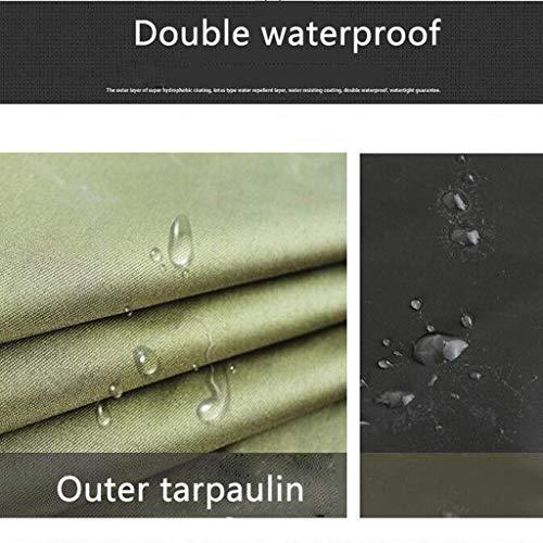 AFDK Poncho, Adult Canvas Long Section mit Gummiregenmantel zum Erhöhen der Verdickung (Militärgrün)