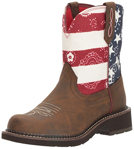 Ariat Women's Fatbaby Heritage Western Cowboy Boot, Tooled Brown, 6.5 B US