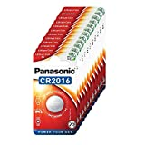 Panasonic CR2016 Lithium Knopfzelle, 3V, 12 Packungen (12