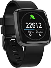 Celestech Verve Color OLED Waterproof Smart Fitness Band and Activity Tracker with Heart Rate Sensor, BP Monitor, SP02 Monitor, Remote Camera Operation and Detachable Strap for All Smartphones