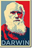 Charles Darwin Kunstdruck (Obama Hope Parodie) Hochglanz