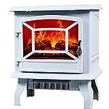 Chauffage de poêle à cheminée électrique avec Protection Contre la surchauffe de la lumière LED...