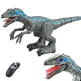 XLNB Dinosaurio Juguete De Control Remoto,Electric Mando A Distancia Dinosaurio,Jurassic World,con Luz Y Rugido Realista Juguetes,Radio Control Dinosaurio Robot,Niños 3 4 5 Años