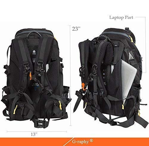 G-raphy Camera Backpack Bag Hiking Travel Backpack for All DSLR SLR Cameras, Laptops, Tripods and Accessories