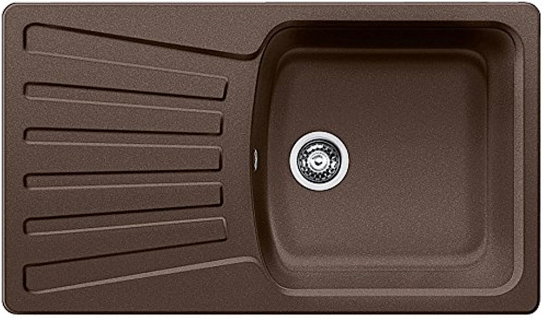 Weiß 515018 Küchenspüle Nova 5 S, Silgranit, Cafe