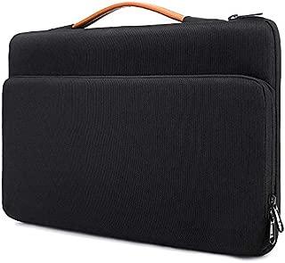 Laptop Sleeve for 15-15.6 MacBook Pro Retina Laptop Notebook Briefcase Bag Waterproof and Shockproof Messenger Bag(Black)