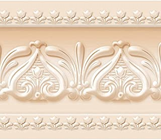 Royal Tulip Peel and Stick Wall Border Easy to Apply (Naples Yellow)