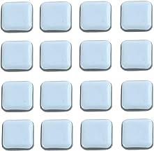16 stuks Teflon meubelglijders, vierkante zelfklevende stoel been PTFE schuifregelaars, vloerbeschermers voor meubels Easy...