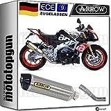 Arrow Kit de tubo de escape para moto homologada por Titan Race-Tech CC compatible con Aprilia Tuono V4 1100 RR Factory 2017 71744PK+71674KZ