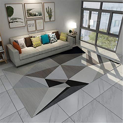 Einfache Geometrische Mode Schreibtisch Sofa Couchtisch Teppich Im Europäischen Stil rutschfeste Verdickung Bodenmatte Schlafzimmer Hotel Wohnzimmer Gastfamilie Urlaub Teppich