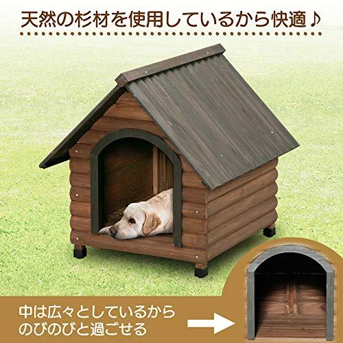 アイリスオーヤマログ犬舎ダークブラウンW77×L86.5×H80cm