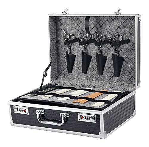 LZLM Bolsa de cordón portátil Cinturón de Cordones de Aluminio con cerraduras de Teclas seguras y surports metálicos duraderos para la vestidor/Styler/peluquería/Maquillaje Artista