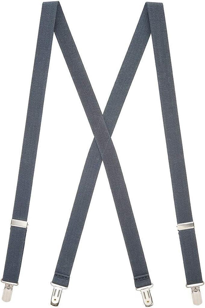 SuspenderStore Men's Solid 1-Inch Small Pin Clip Suspenders