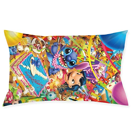 gshihuainingxianshekush Anime Lilo Stitch Throw Pillow Covers Pillow Case Modern Cushion Cover Square Pillowcase Decoration-for Sofa Bed Chair Car 20 X 30 Inch
