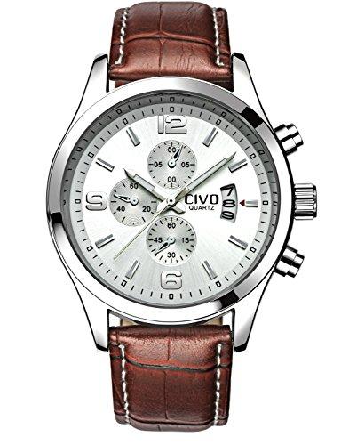 CIVO Relojes Analógico Para Hombre Sub Dial Decorativo Movimiento Japonés Hombres de Negocios del Reloj Impermeable Sencillo Reloj Analógico