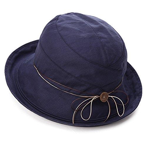 SIGGI Womens UPF 50+ Cotton Linen Foldable Bucket Sun Hats Wide Brim...