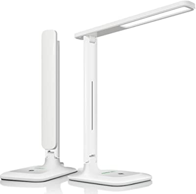Touch Control Desk lamp, AINIOO 3 Brightness Levels Energy-Efficient Office Study Reading USB Charging Port-A 28.8x31.5cm