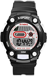 Sport Wristwatch, Students Multi-functional Fashionable Sports Digital Electronic Wrist Watch PU Plastic Watch Band