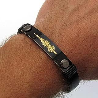 Custom Sound Wave Bracelet for Men - Voice Engraving Mens Bracelet - Personalized Mens Jewerly - Groomsmen Gift Idea