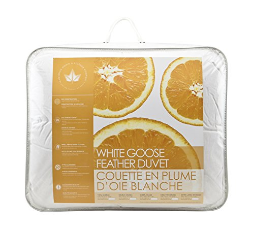 Canadian Down & Feather Co - All Season White Goose Feather Duvet Double Size - 233 TC Shell 100% Cotton - Oeko-TEX Certified