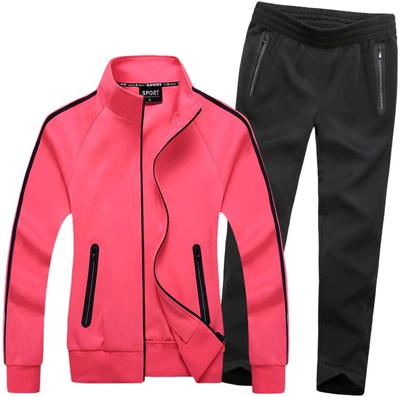 Bon Soir Women's Athletic Jogging Tracksuit Full Zip Casual Sports Sweat Suit Set