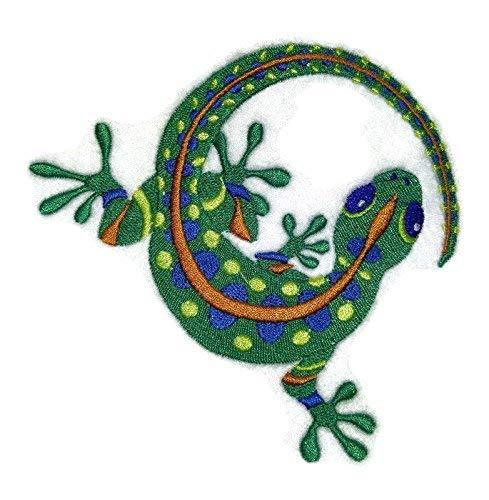 BeyondVision Die Prämie der Natur schönen Brauch Caribbean Gecko Eisen Nähen Patches Bestickt 4.86x.5 weiß, schwarz, braun, blau