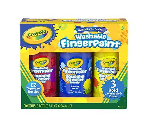 CYO551310  Crayola Washable Fingerpaint Bold Colors Set