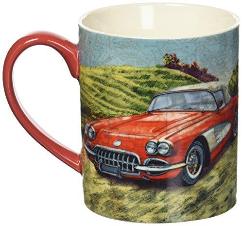Lang Vintage Car Mug by Tim Coffey, 14 oz, Multicolored